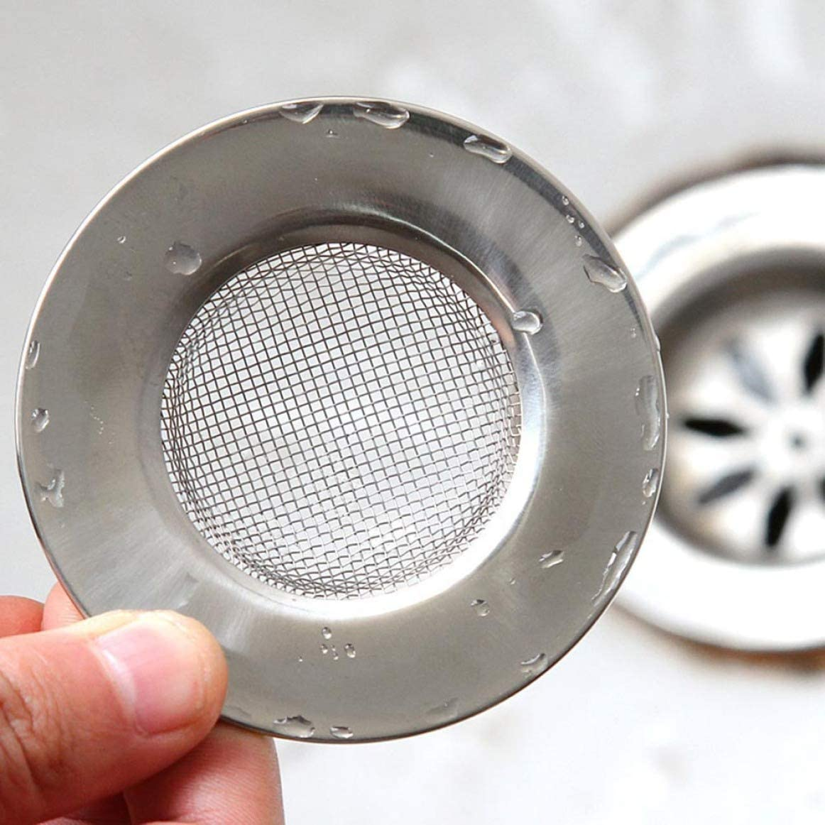 MING Originale Metallo Scarico del Lavandino Colino Rete Cesto Cucina Tappo Cover Anti-bloccaggio SV