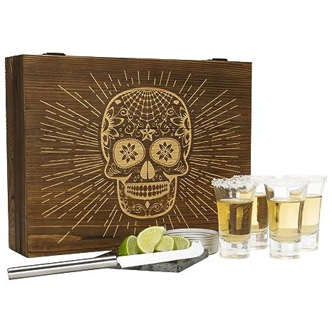 Amazon.com: Atterstone Tequila - Juego de 4 vasos de chupito ...