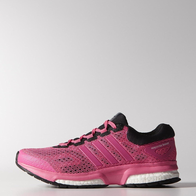 zapatillas de running mujer adidas boost techfit negra y rosa