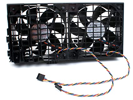 amazon com genuine dell dc 12v 4 wire 5 pin dual cooling fan rh amazon com