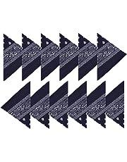 BOOLAVARD (100% Cotone) 3 pz / 6 pz / 12 pz Bandane ai Capelli al Collo in Testa Modelli di Paisley Sciarpa Fazzoletti da Taschino