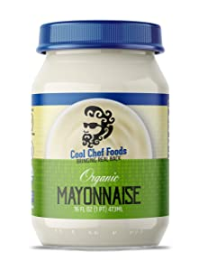 Cool Chef Foods - Organic Mayonnaise - Non-GMO, Gluten-Free, Keto-Friendly Kosher Mayo - Condiment for Sandwiches, Burgers, Sauces, Dipping - 16 Fl Oz (473mL)