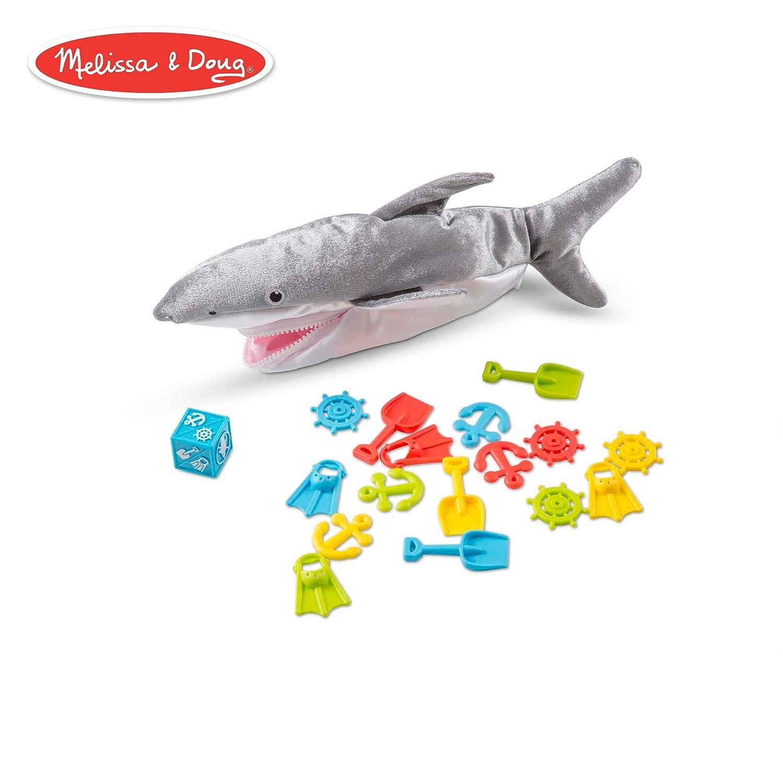 Melissa & Doug Shark Bait Game With Zippered Plush Shark