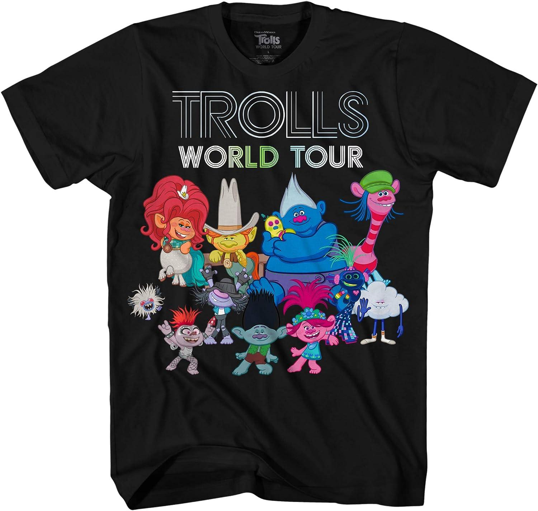 DreamWorks Kids' Trolls Boy's World Tour Movie Characters T-Shirt