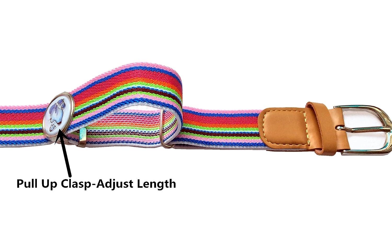 Kids Toddler Elastic Belts For Boys Pants Girs Dresses With Adjustable Clamp Belt