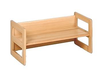 Kindermöbel holz  Kindermöbel, Wendebank Holz, die Bank mit verschiedenen Sitzhöhen ...
