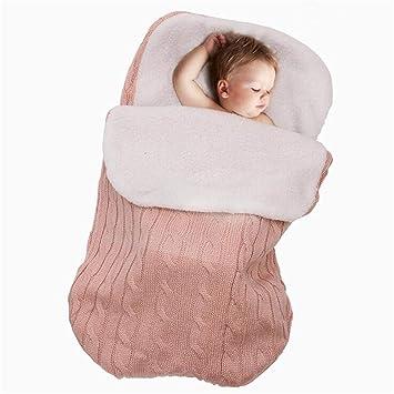 BABIFIS Saco de Dormir para bebé recién Nacido Swaddle Blanket Plus Lamb Cashmere para bebé de