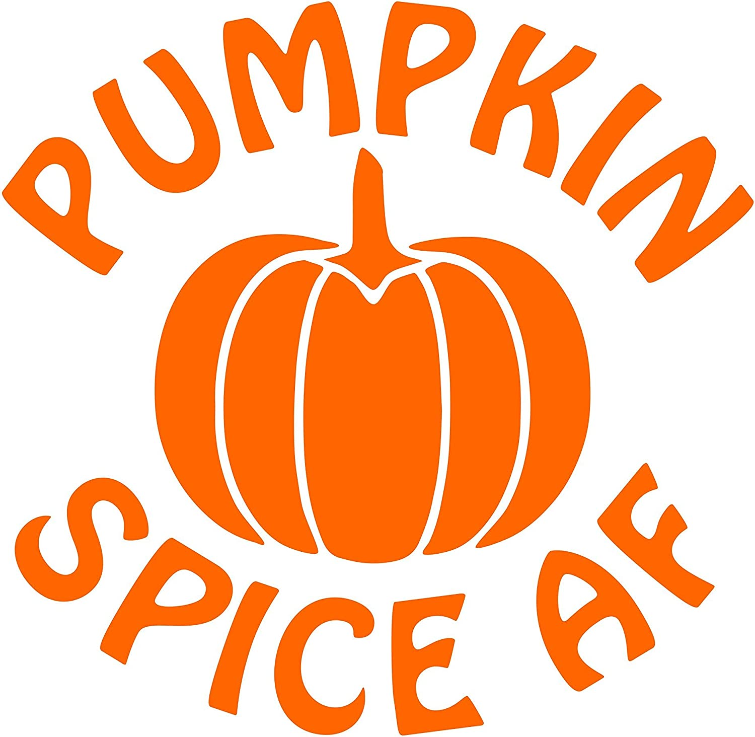 "Diamond Graphics Pumpkin Spice AF (3-3/4"" x 3-3/4"") Orange Die Cut Decal Bumper Sticker for Windows, Cars, Trucks, Laptops, Etc."