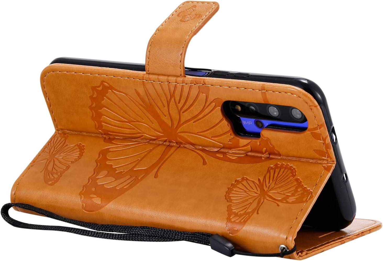 Honor 20 H/ülle Leder LOKTU090556 Blau Schutzh/ülle Brieftasche mit Kartenfach Klappbar Magnetisch Sto/ßfest Handyh/ülle Case f/ür Huawei nova 5T Lomogo Huawei nova 5T
