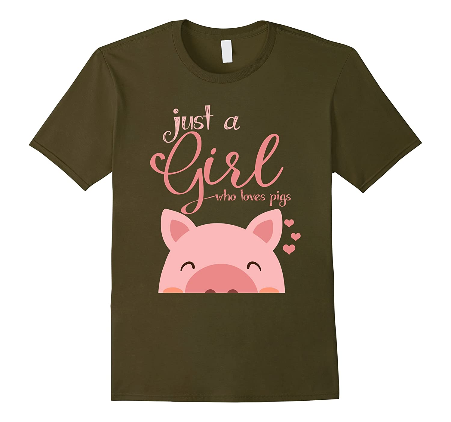 Just a Girl Who Loves Pigs T-Shirt Funny Pig Lover Gifts-RT
