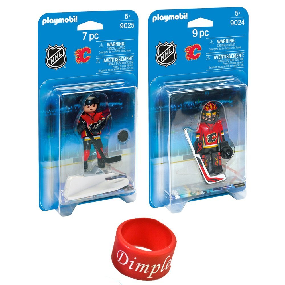 PlayMobil NHL Calgary Flames Player PlayMobil and Player Goalie with Dimple NHL Ring B01FMWAEE2, タックルアイランド:d9a82297 --- arvoreazul.com.br