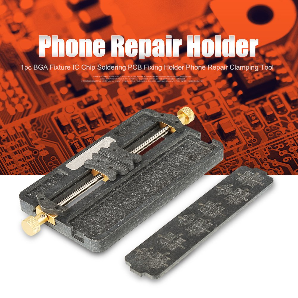 PCB Holder,1pc Fixture IC Chip Soldering PCB Fixing Holder Phone Repair Clamping Tool for Mobile Phone,BGA Fix Repair Mold Board NAND by Walfront (Image #4)