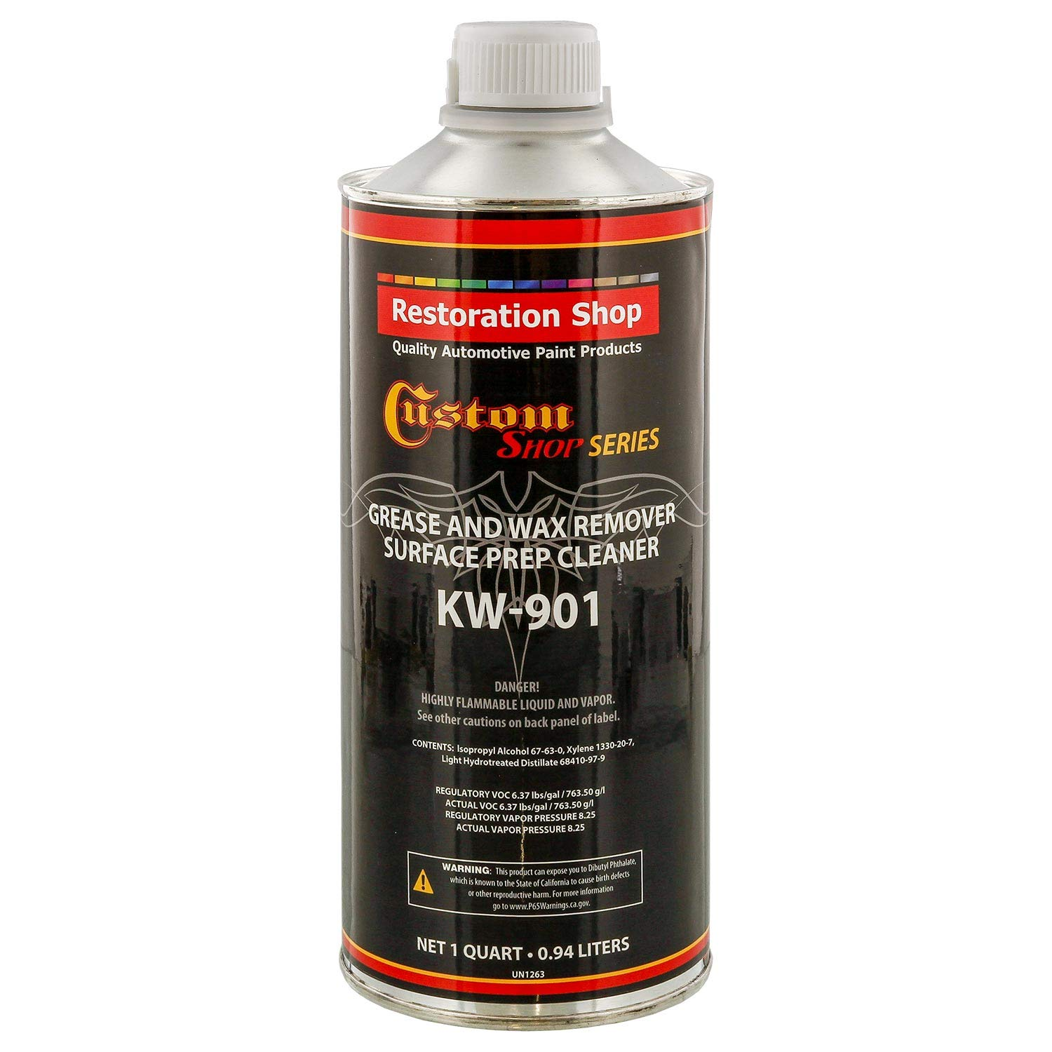 Custom Shop KW901-QT Automotive Grease and Wax Remover Surface Prep Cleaner for before painting