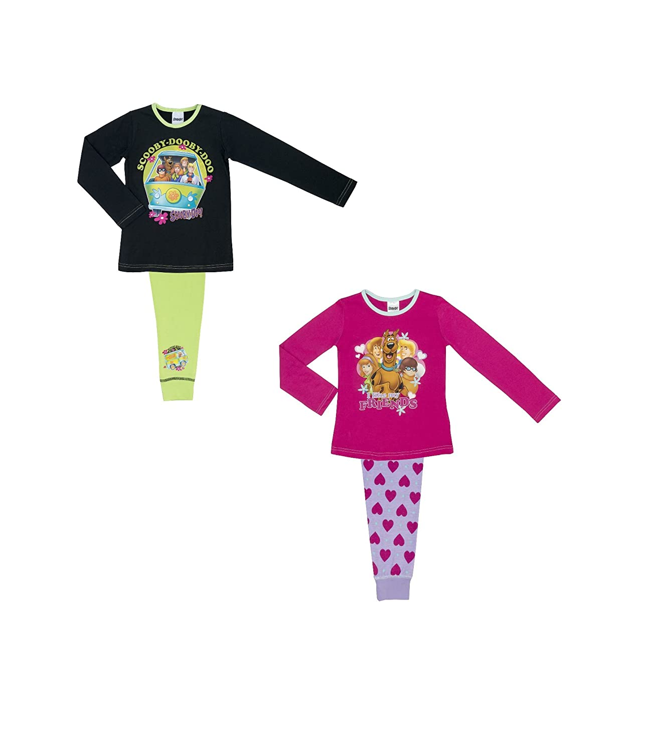 91ac2a2830 Cartoon Character Products 2 Pack Warner Brothers Scooby Doo Girls Pyjamas  - 5-10 - 4-5 Years   104-110 cms  Amazon.ca  Clothing   Accessories