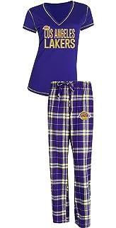 b0596eeabb6 Concepts Sport Los Angeles Lakers NBA Super Duo Women s T-Shirt   Flannel  Pajama Sleep