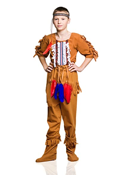Kids Boys Red Indian Costume Native American Outfit Great Plains Indians Dress Up (6-  sc 1 st  Amazon.com & Amazon.com: Kids Boys Red Indian Costume Native American Outfit ...