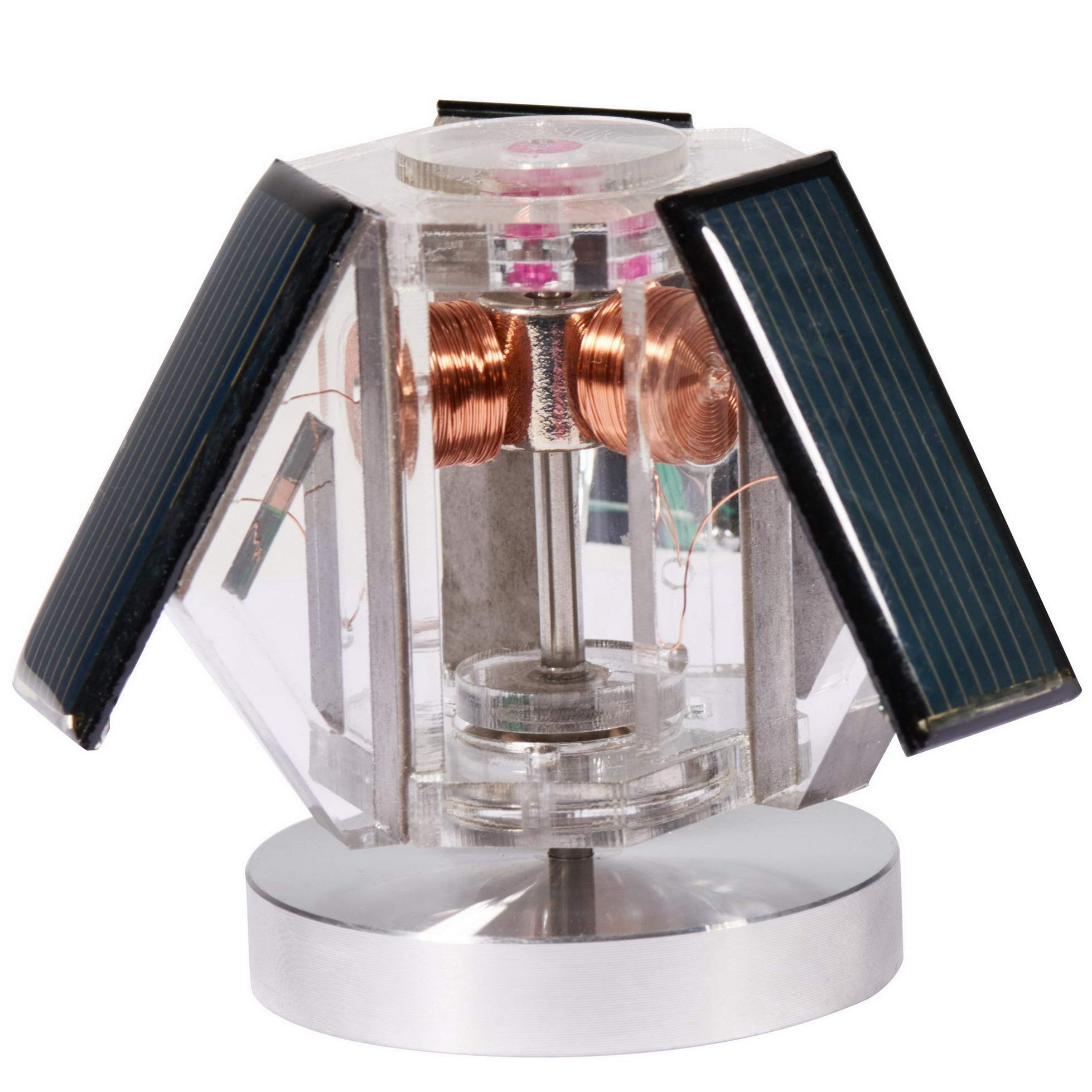 Sunnytech Mini Solar Vertical Mendocino Motor Magnetic Levitating Educational Model Science Physics Toy QZ08A