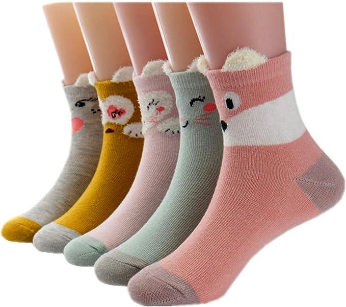 Cczmfeas Calcetines de niña Calcetines de Animal algodón con ...