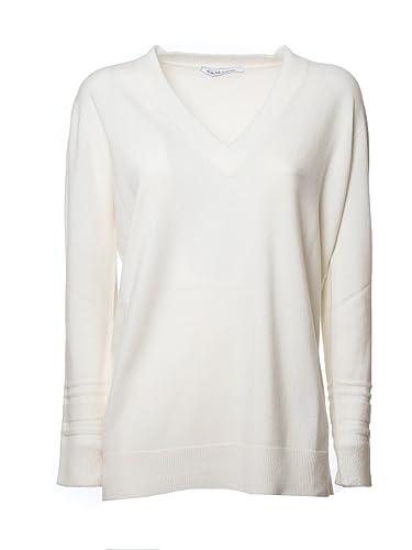 Agnona Mujer Amo60a0009n00 Blanco Cachemir Suéter
