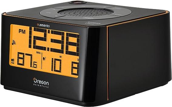 Oregon Scientific EW-103 Radio Reloj proyector, Color Negro ...
