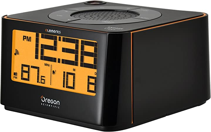 Oregon Scientific EW-103 Radio Reloj proyector, Color Negro ...