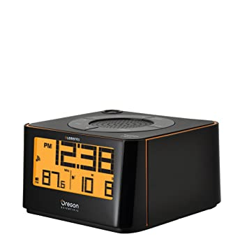 Oregon Scientific EW-103 Radio Reloj proyector, Color Negro