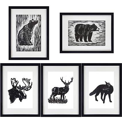 Amazoncom Vintage Dictionary Art Prints Animals Bear Moose Deer