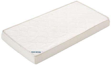 Tinéo - Colchón para camas infantiles, 120 x 60 cm, color blanco (511110