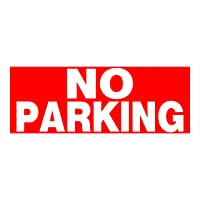 Hillman 841796 No Parking Sign with Predrilled Mounting Holes, Red and White Heavy Duty Plastic, 6x15 Inches 1-Sign