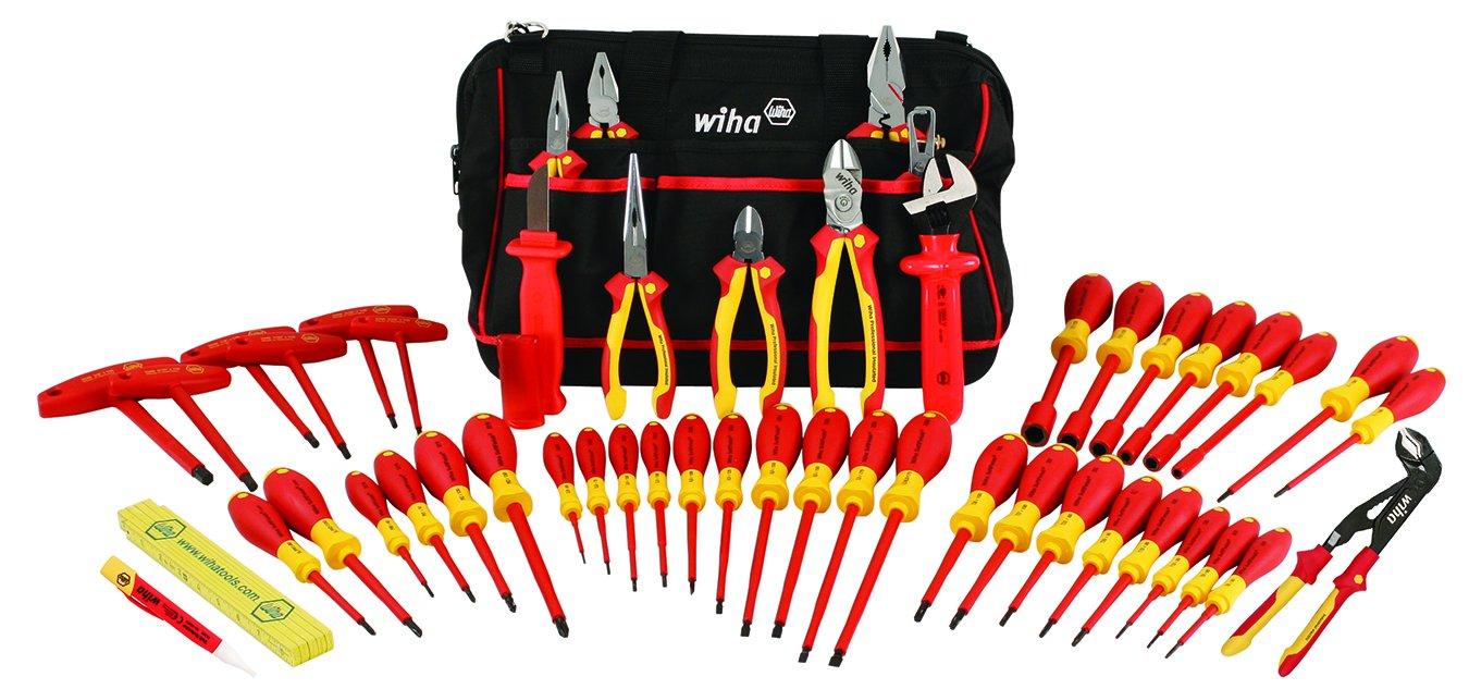 Wiha 32874 Aislado Tool Set con Pliers, Cutters, Llave pa...