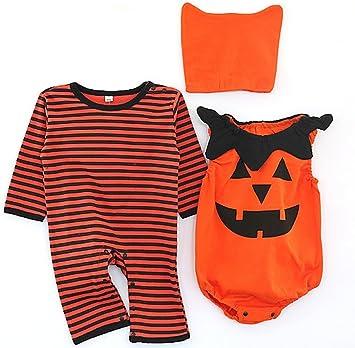 Disfraz Halloween Ropa Set Bebe Mono + Body + Sombrero Algodón ...