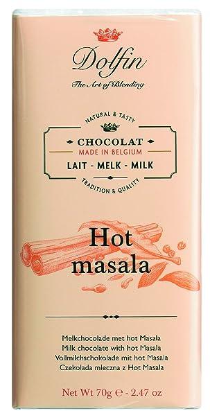 Dolfin Hot Masala Chocolate con Leche - 5 Paquetes de 1 x 70 gr - Total