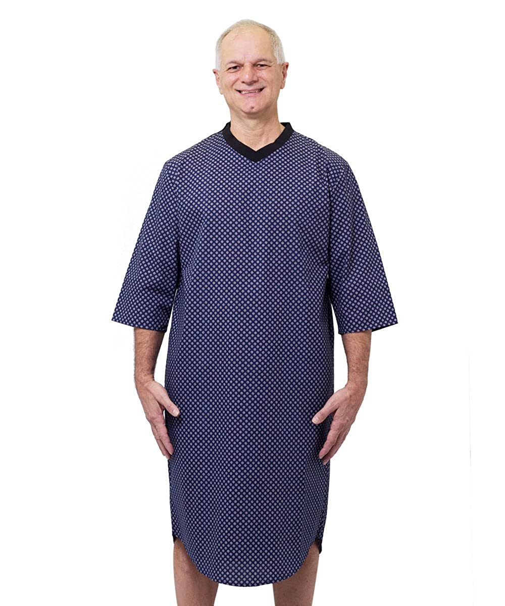 Amazon.com: Silvert\'s Mens Adaptive Hospital Patient Nightgowns ...
