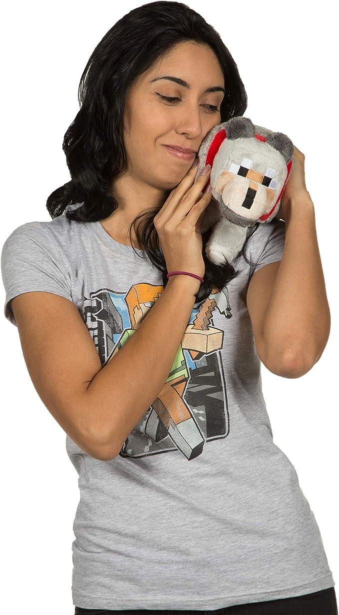 """JINX Minecraft Wolf Plush Stuffed Toy, Gray, 8"""" Long"""
