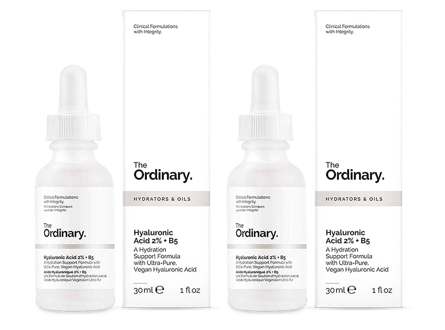 The Ordinary Hyaluronic Acid 2% + B5 30ml - 2pc Multipack Deceim