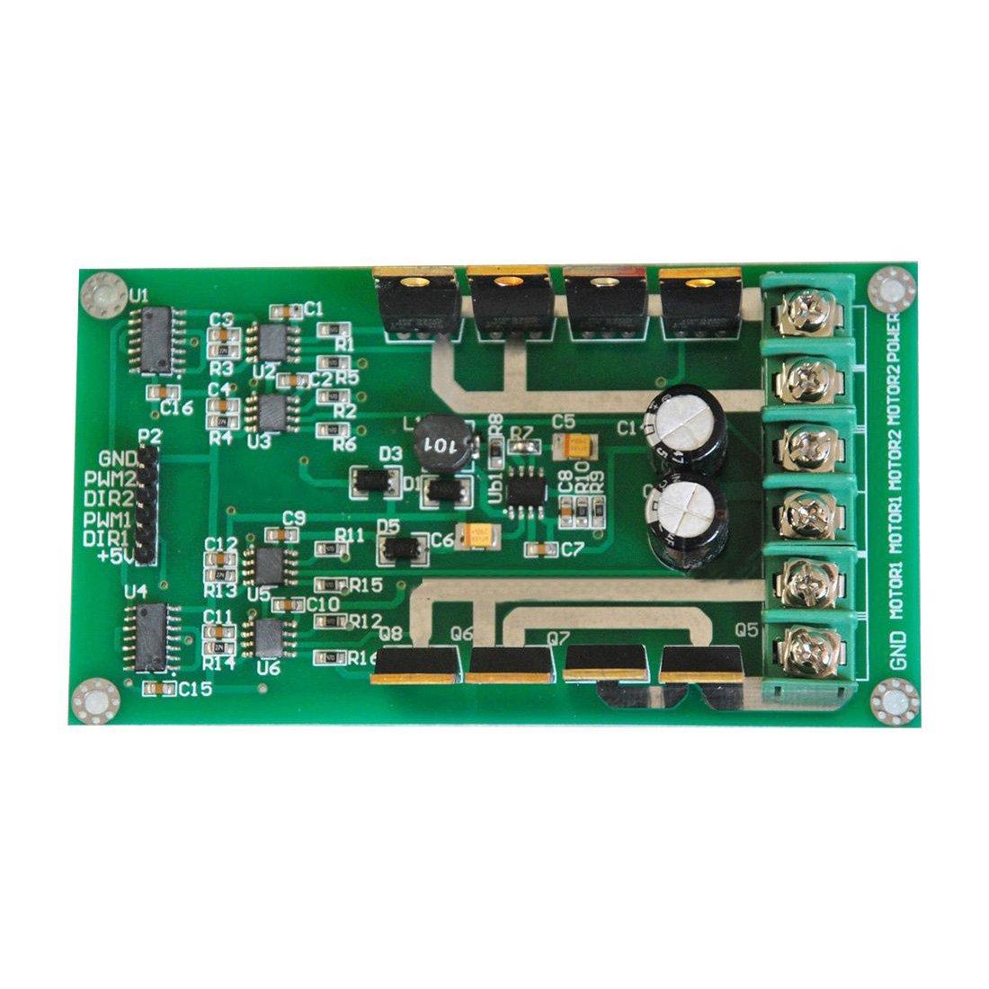 SODIAL(R) 3V-36V Dual Motor Driver Board Module H-bridge DC MOSFET IRF3205 15A Peak 30A