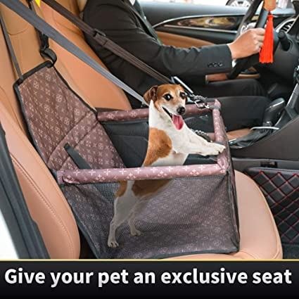 Grey 2 in 1 Thick Pet Car Booster Seat Waterproof Dog Single Front Seat for Vehicle Supplies Protector Cover Pet Travel Carrier Bag