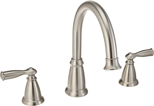 Moen 86924SRN Deck Mounted Roman Tub Faucet Trim from the Banbury Collection, Spot Resist Brushed Nickel