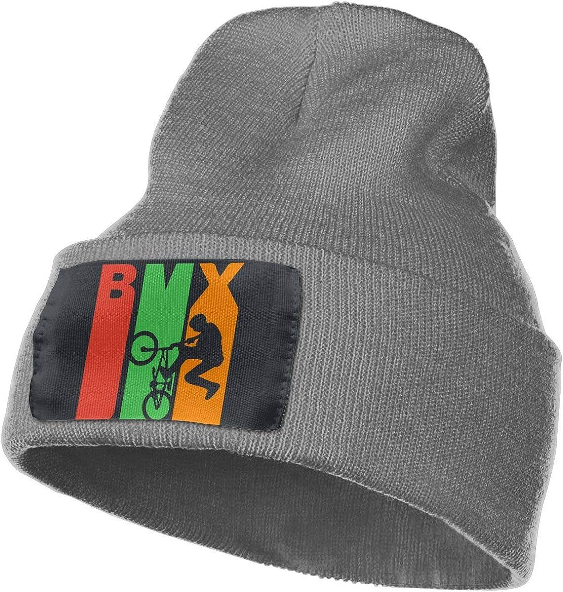 Retro 1970s Style BMX Silhouette Unisex Winter Comfortable Snow Ski Hat