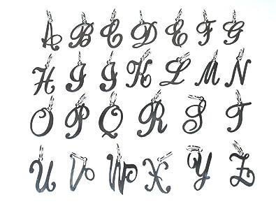 Markylis solid 925 sterling silver large fancy script letter markylis solid 925 sterling silver large fancy script letter alphabet initial jewellery charm pendant a z altavistaventures Image collections