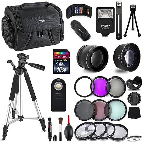 Profesional 55 mm Gigante Kit de Accesorios para cámaras réflex ...