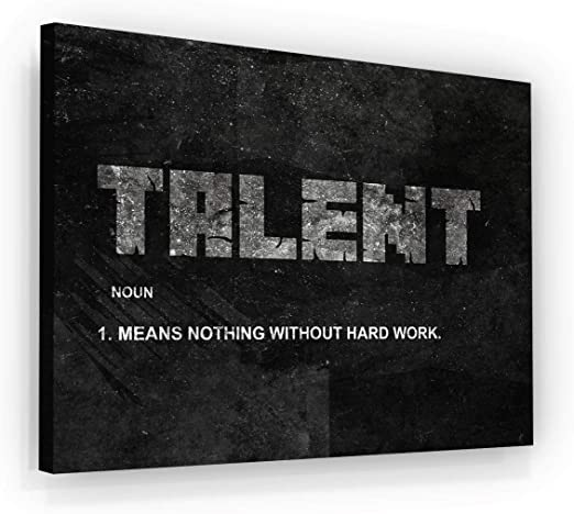 Successhuntersprints Talent Noun Canvas Print Office Wall Decor Hard Work Quote Motivational House Modern Art Print Home Inspiration Motivation Entrepreneur Decoration 18 X 24 Amazon De Kuche Haushalt