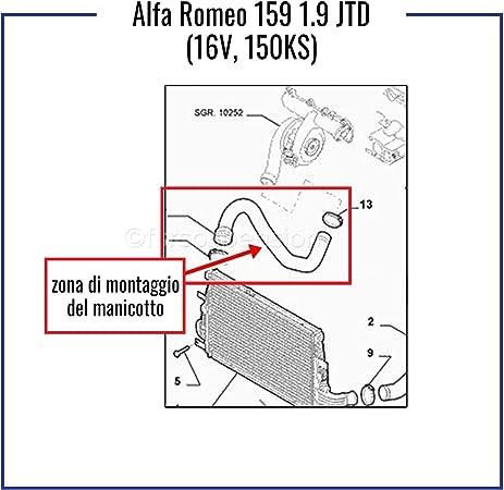 PROAUTOEU manicotto Intercooler Pro 144