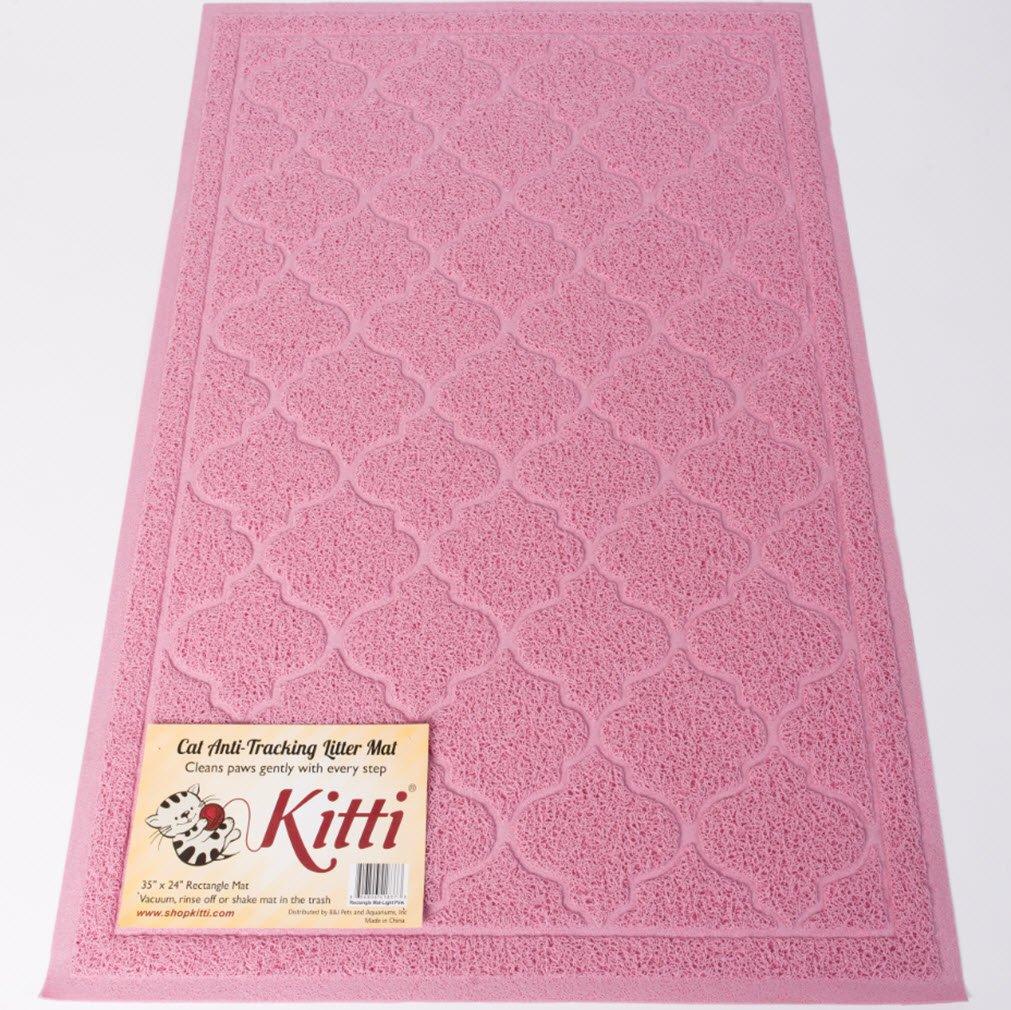 Kitti Cat Litter Anti Tracking Mats, Pink