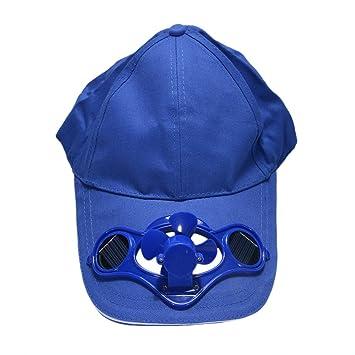 elegantstunning - Gorra de Sol Unisex de Verano, con Ventilador ...