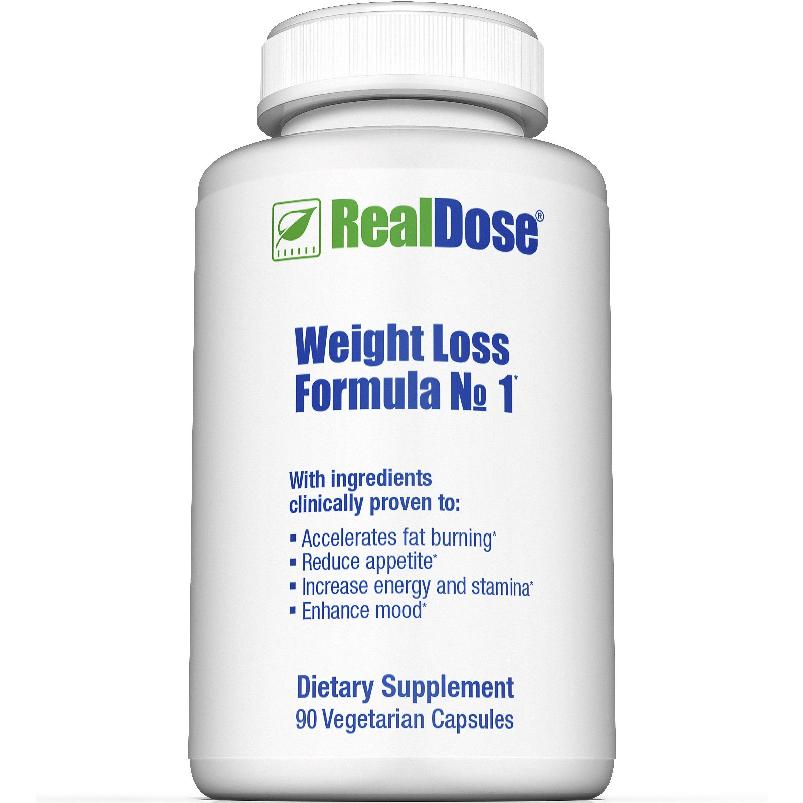 RealDose Nutrition's Weight Management Formula No.1 - Includes Piper Betle Leaf and Dolichos Biflorus (LOWAT), Decaf Green Coffee Bean Extract (SVETOL) & Rhodiola Rosea - 90 Vegetable Capsules by RealDose Nutrition