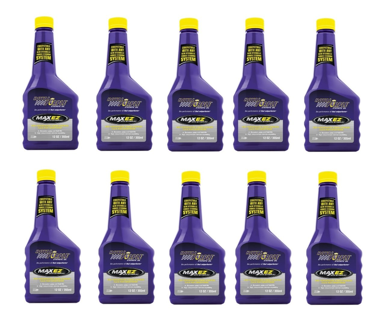 Royal Purple Max EZ High Performance Synthetic Power Steering Fluid - 12 oz. (Pack of 10)