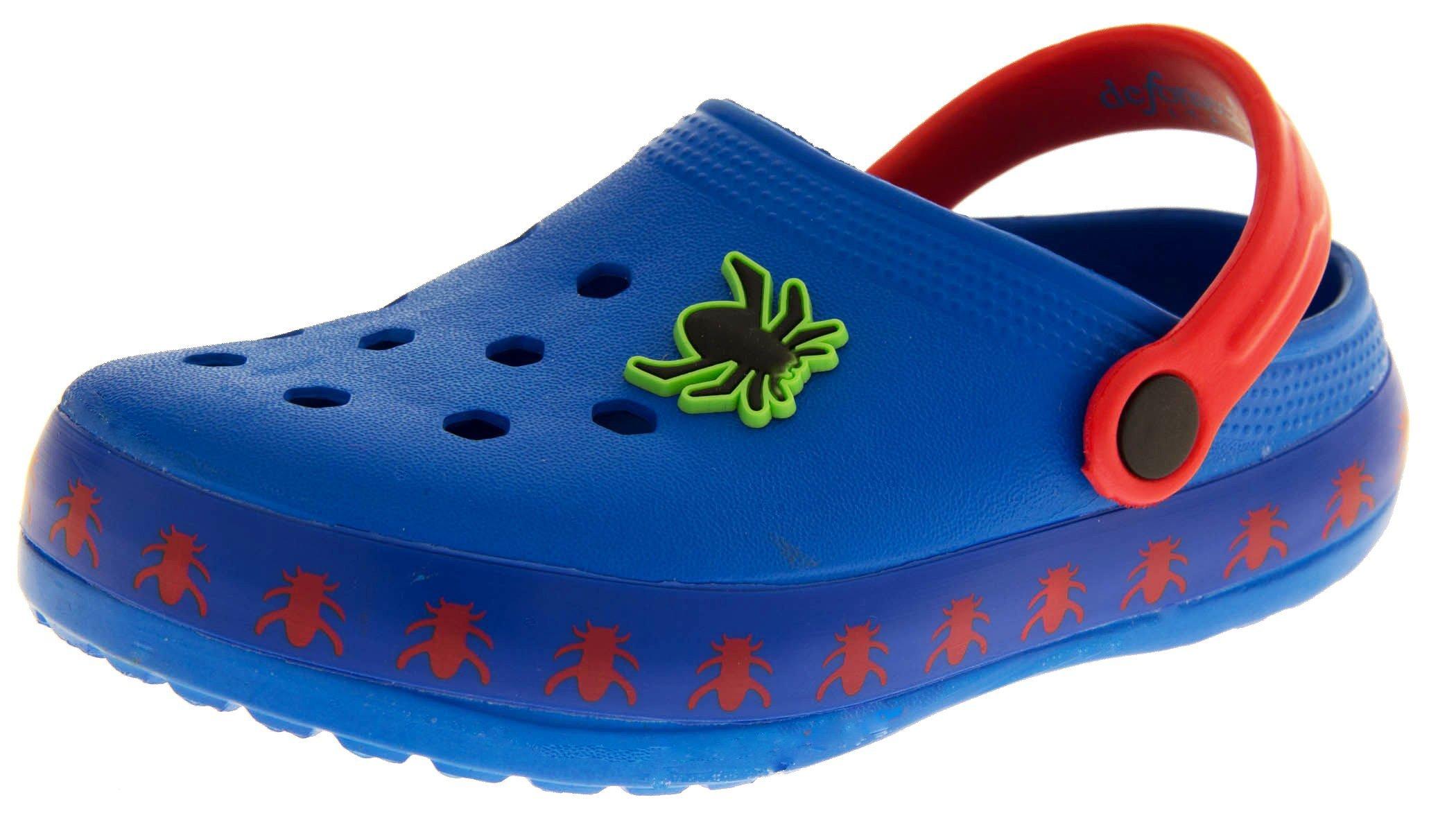 De Fonseca Boys Girls Sabotis Blue (red Strap) Summer Beach Clog Sandals US 3.5