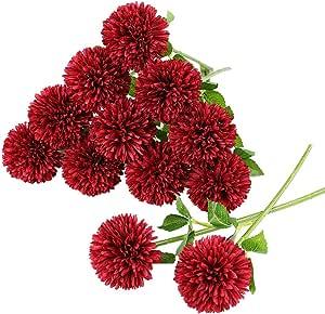 SINGLE LARGE CHRYSANTHEMUM IN PURPLE ARTIFICIAL SILK FLOWERS