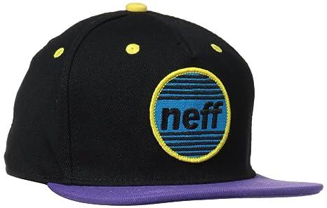 Neff Average Snapback – Gorra Rojo/Blue, Color Negro/Morado, tamaño Talla